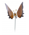 Oranje vlinder op stok 59 cm