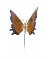 Oranje vlinder op stok 74 cm
