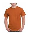 Oranjebruin katoenen shirt voor volwassenen