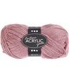 Oud roze acryl garen 80 meter