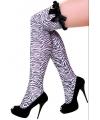 Overknee kousen met zebra print