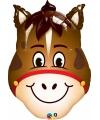 Paard dieren folie ballon 80 cm