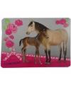 Paarden placemat grijs 43 x 30 cm
