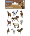 Paarden stickers 3 vellen