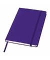 Paars notitie boek gelinieerd a5 formaat