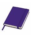 Paars pocket notitie boekje gelinieerd a6 formaat