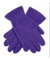 Paarse fleece handschoenen