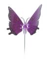 Paarse vlinder op stok 74 cm