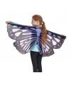 Paarse vlinder vleugels voor kids