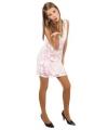 Pailletten jurk metallic wit