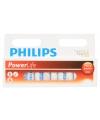 Pakket 12 alkaline philips batterijen aa