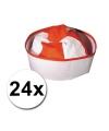 Pakket met 24 rode matrozen hoedjes icm zeemans tattoos