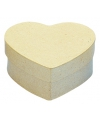 Papier mache oosje in hartvorm 10 cm