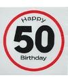 Papieren 50 jaar bord servetten 20 stuks
