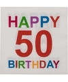 Papieren 50 jaar servetten 20 stuks