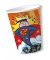 Papieren bekers 30 jaar superheld 10 stuks