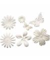 Papieren bloemen en vlinders 24 stuks