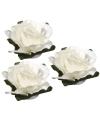 Papieren deco bloemen wit 2 5 cm