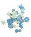 Papieren knutsel bloemen blauw