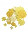 Papieren knutsel bloemen geel