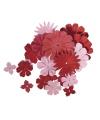 Papieren knutsel bloemen rood roze