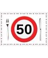 Papieren placemats 50 jaar 10 stuks