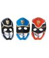 Papieren power rangers maskers 6 stuks