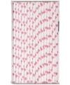 Papieren rietjes met hartjes dessin roze