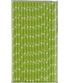 Papieren rietjes met ster dessin groen