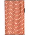 Papieren rietjes met ster dessin oranje