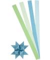 Papieren stroken blauw groen 100 stuks