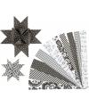 Papieren stroken zwart wit 60 stuks