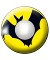 Party lenzen geel met vleermuis