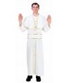 Paus kostuum wit met goud