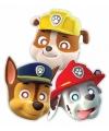 Paw patrol feest maskers 8 stuks