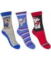 Paw patrol jongens sokken 3 pak blauw rood