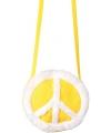 Peace tasje geel