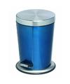 Pedaalemmer rvs 5 liter glanzend blauw
