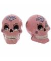 Peper en zout setje mexicaanse schedel roze