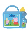 Peppa big blauwe lunchbox met beker