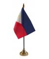 Philipijnen tafelvlaggetje inclusief standaard