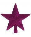 Piek ster roze met glitters 19 cm