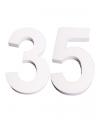Piepschuim 35 cijfer 25 cm