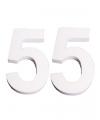 Piepschuim 55 cijfer 25 cm