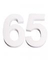 Piepschuim 65 cijfer 25 cm