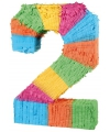 Pinata gekleurde cijfer 2