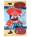 Piraat badcape met capuchon