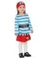Piraat kostuum met rokje voor peuters