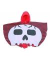 Piraten doodskop poncho voor jongens