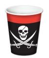 Piraten feest bekers 8 stuks